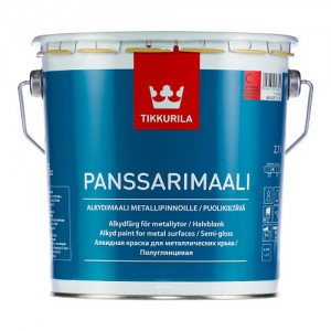 Farba alkidowa na powierzchnie ocynkowane {Tikkurila Panssarimaali 2,7l}