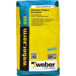 Wysokoelastyczna zaprawa klejąca do płytek {Weber xerm 855 20 kg}