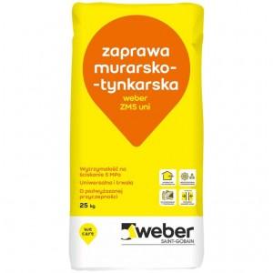 Zaprawa cementowo-wapienna do murowania {Weber ZM5 uni 25 kg}