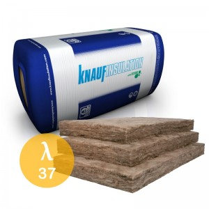 Wełna mineralna szklana {Knauf Insulation Akustik Board 100mm,  λ 037, 6,00 m2/paczka}