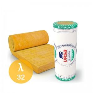 Wełna mineralna szklana {URSA PLATINUM 32 50 mm, 10 m2/rolka}