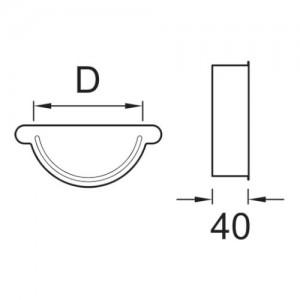 Zaślepka rynny {Plannja 15 cm}